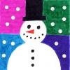 Cartão Boneco de Neve - Passo a Passo