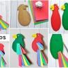 Papagaio de Papelão - Passo a Passo e Molde