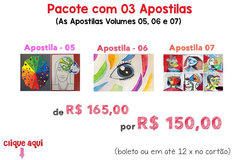 Pacote com 03 Apostilas (Vol. 05, 06 e 07)