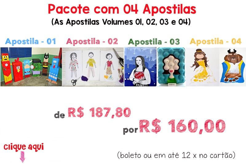 Pacote com 04 Apostilas (Vol. 01, 02, 03 e 04)
