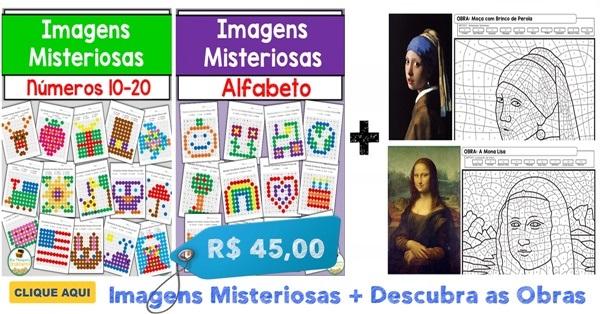 DESCUBRA AS OBRAS E IMAGENS MISTERIOSAS - NOVO