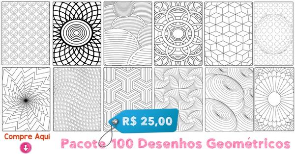 PACOTE 100 DESENHOS GRAFICOS - NOVO